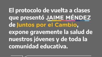 Photo of La oposición local se manifestó en contra de la propuesta de Méndez de abrir escuelas